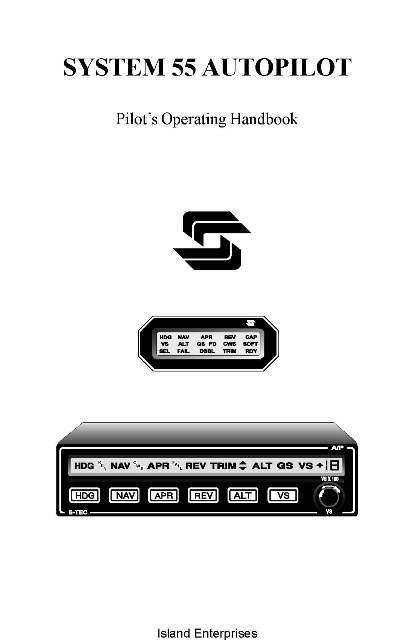 S-Tec System 55 Autopilot Pilot's Operating Handbook 1997
