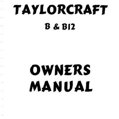 Taylorcraft Instruction & Maintenance Manual