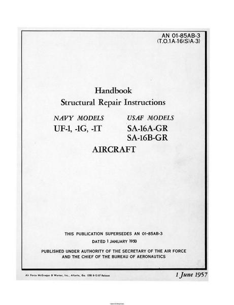 Grumman UF-1, 1G, 1T, SA-16A-GR and SA-16B-GR Handbook