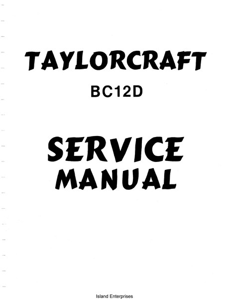 Taylorcraft BC12D Service Manual