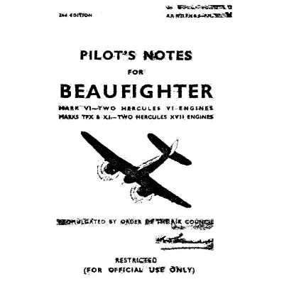 Beaufighter Mark VI-Two Hercules VI Engines & Marks TFx