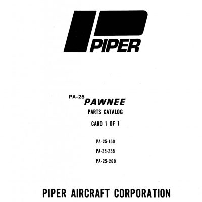 Pawnee PA-25-235 Flight Manual/POH