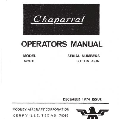 Mooney POH's & Owner's Manuals Archives