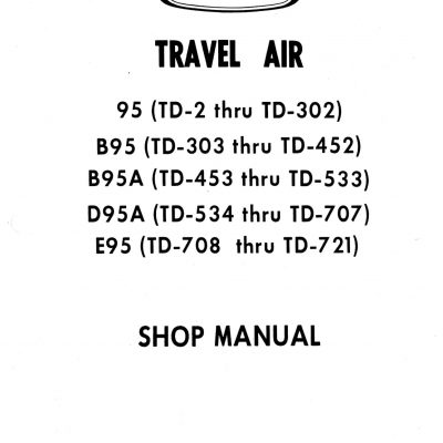 Beech 55 56 58 95 Shop Manual Archives