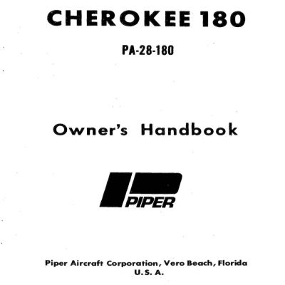 Piper Cherokee 140 Owner's Handbook 1964-1968 PART # 753