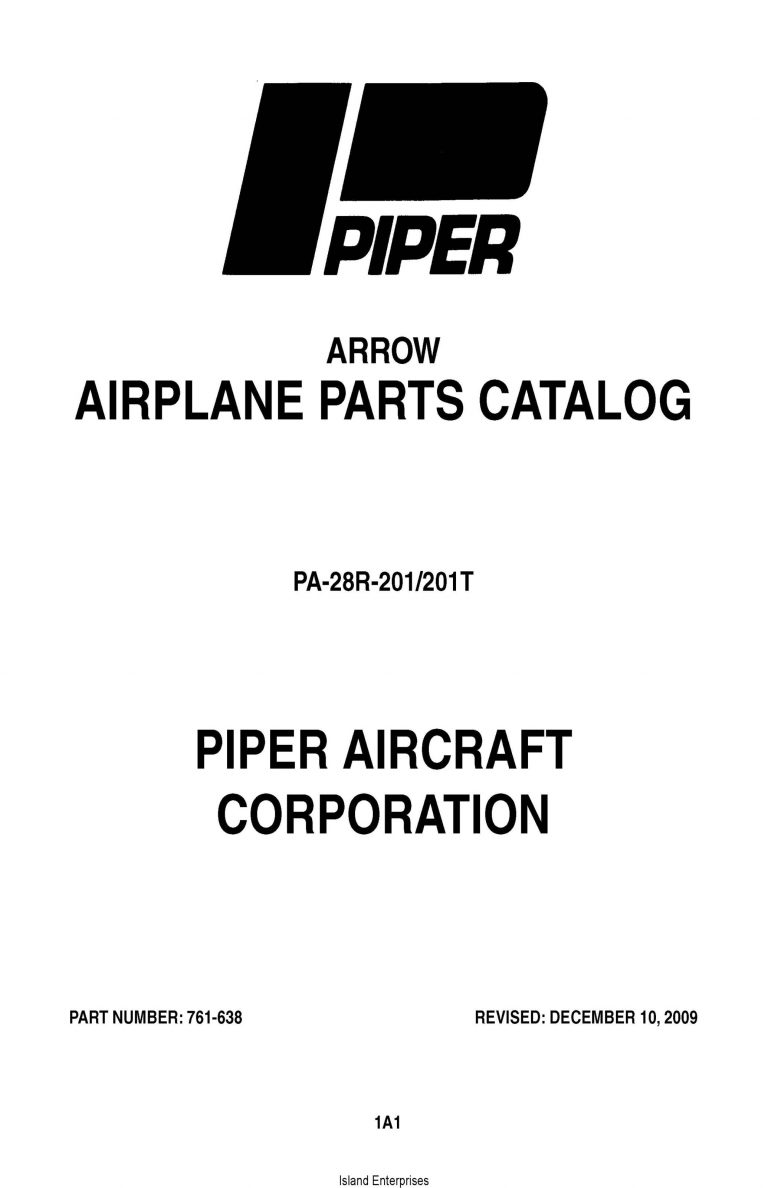 Piper Arrow PA-28R-201/201T Parts Catalog 761-638_v2009 PDF