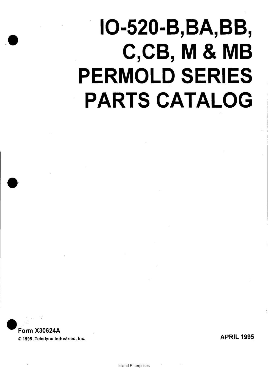 Continental IO-520-B,BA,BB, C,CB, M & MB Permold Series