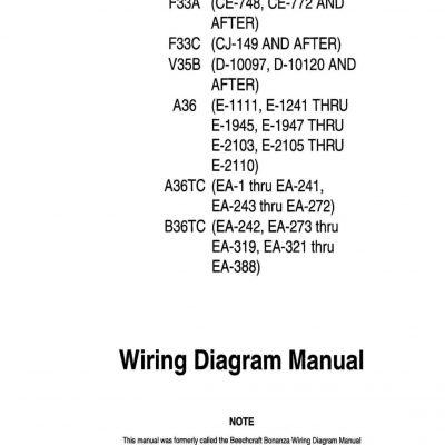 Beech 33 35 36 Maintenance Manuals/Shop Manual