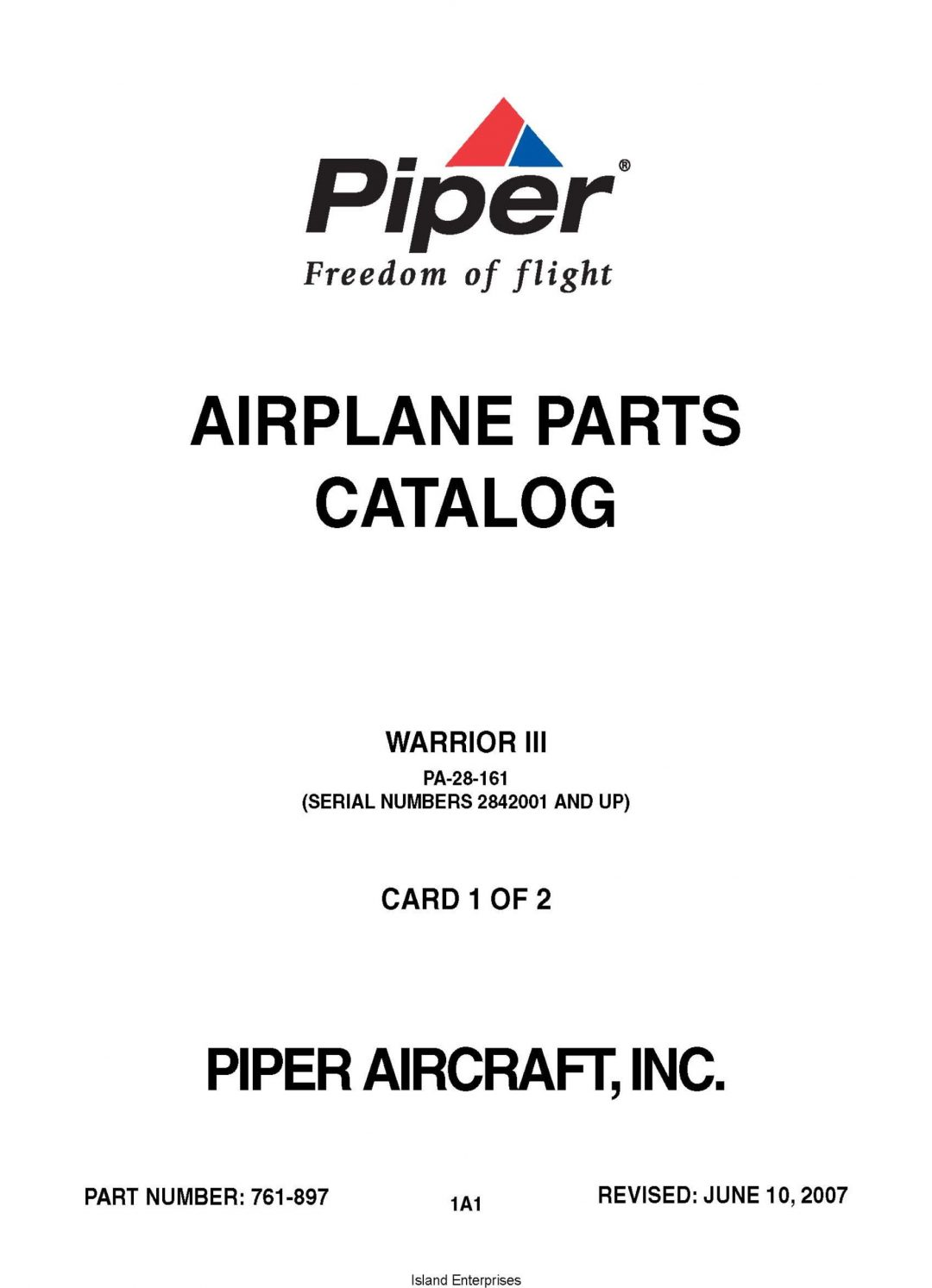 Piper PA-28-161 Warrior III (Serial Numbers 2842001 AND UP