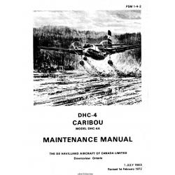 De Havilland DHC-4/DHC-4A Caribou Maintenance Manual PSM 1