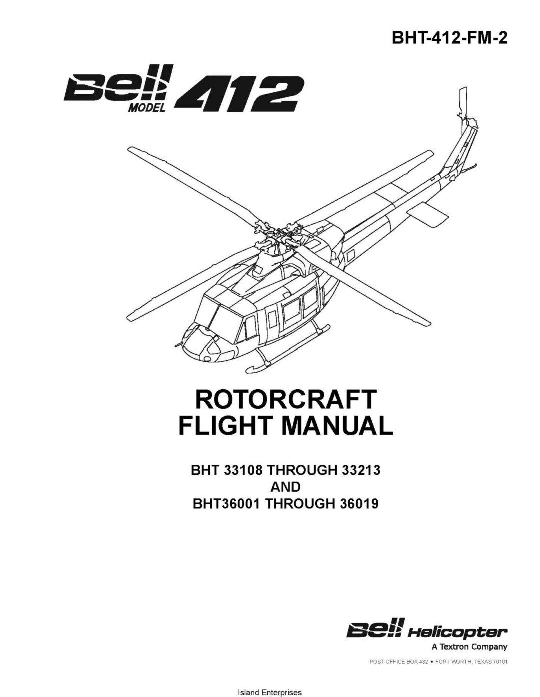 Bell Model 412 Rotorcraft Flight Manual BHT-412-FM-2