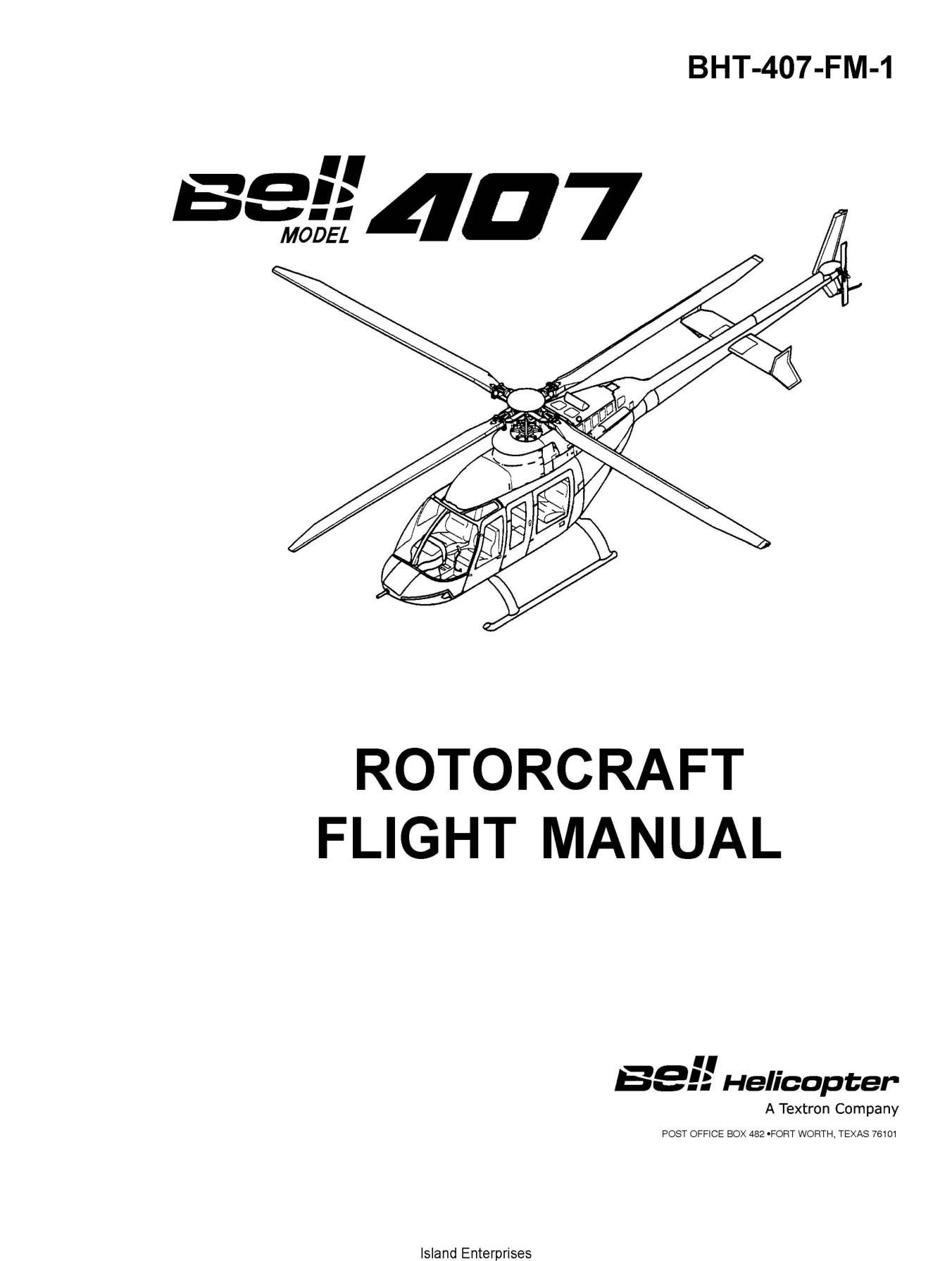 Bell Model 407 Rotorcraft Flight Manual BHT-407-FM-1