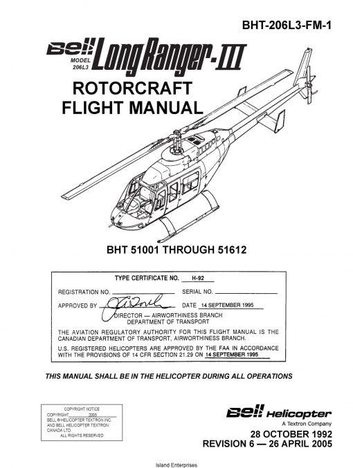 Bell Model 206L3 Long Ranger-III Rotorcraft Flight Manual