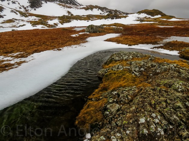 I Loved The Shape The Melted Snow And Ice Had Made Around The Shore Of Llyn y Cwn