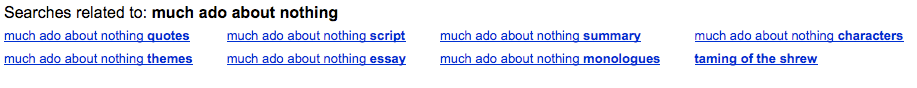 Related search results for <i>much ado about nothing</i>