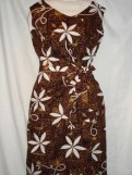 Custom Sarong dress from vintage fabric