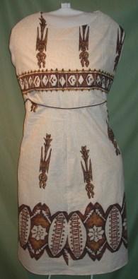 60s retro Hawaiian Tiki dress