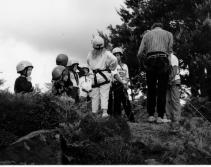 Climbing at Cowrake Quarry 1988