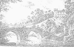 This print by J Stubbs in 1830 Showing Lowther Bridge and Brougham Hall