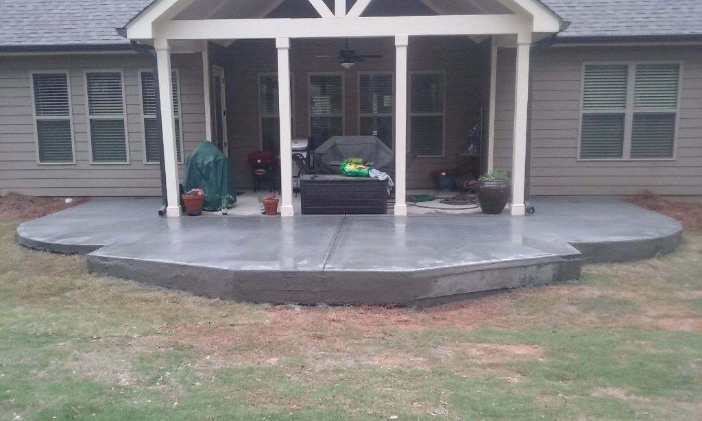 custom built concrete stone patios
