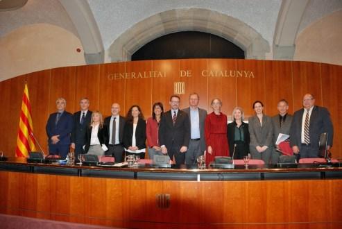 """Fotos de grup dels ponents de la jornada """"10 anys de política pública de millora de la regulació del Govern de la Generalitat de Catalunya"""""""