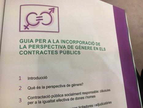 Índex de la guia per a la incorporació de la perspectiva de gènere en els contractes públics
