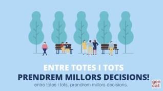 Cartell: Entre tots i totes prndrem millors decisions! - Gencat