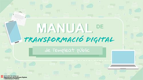 Cartell dle Manual de transformació digital de l'empleat públic