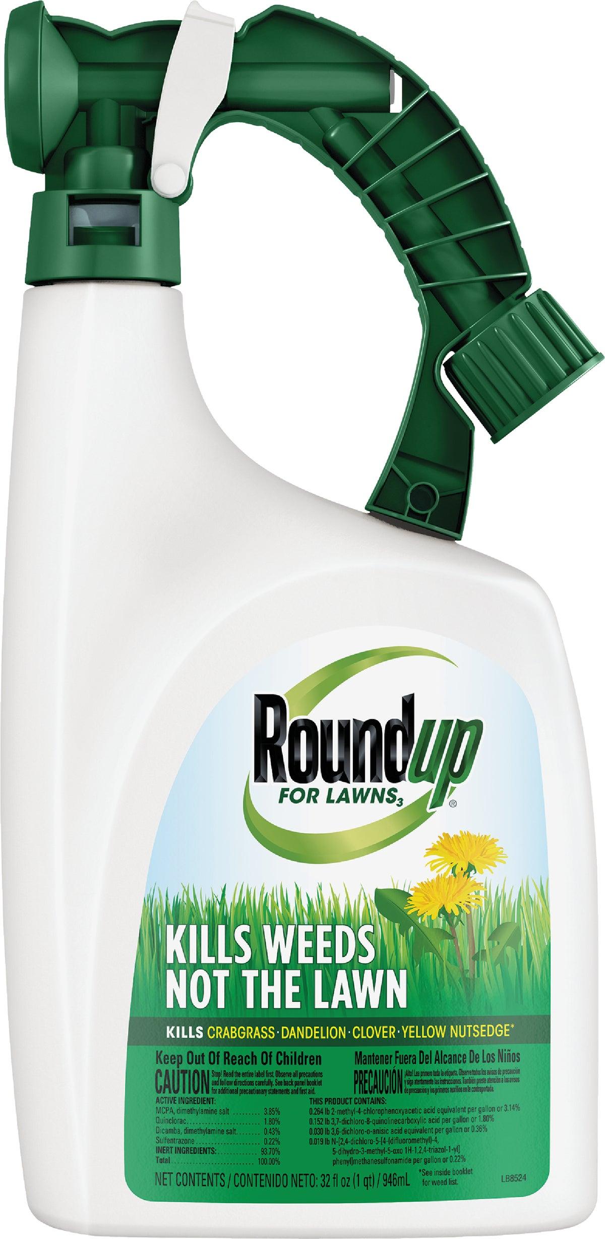 Buy Roundup For Lawns Northern Formula Weed Killer 32 Oz ...