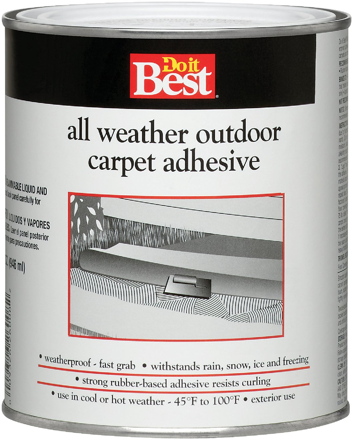 do it best all weather outdoor carpet adhesive quart