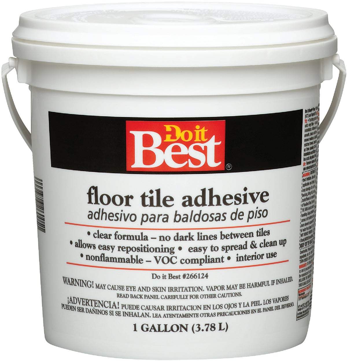 do it best clear thin spread floor tile adhesive gal