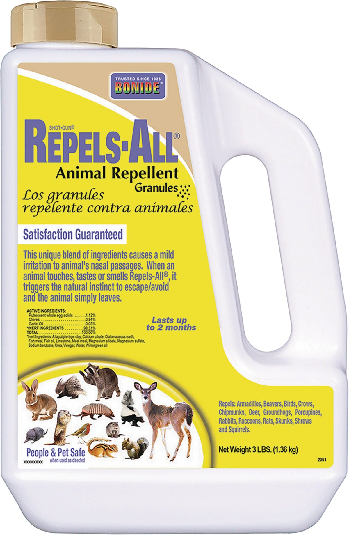 Rabbit Repellent Safe For Dogs : rabbit, repellent, Bonide, Repels, Animal, Repellent, Shaker