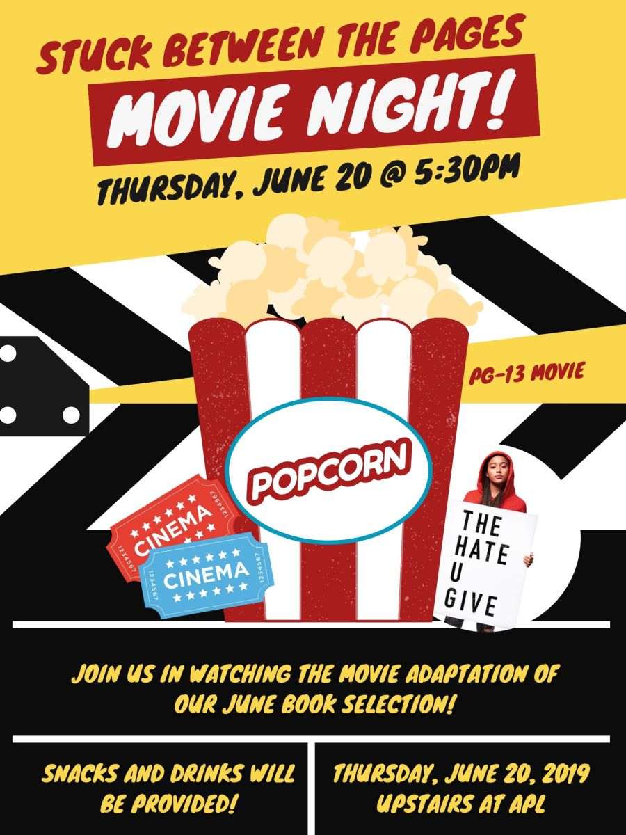 Teen Movie Night The Hate U Give Aurora Public Library District