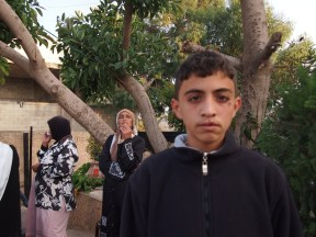 14 Year Old Ahmed before he gave himself up to Israeli soldiers. Photo EAPPI/E. Mäkilä.