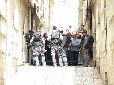 14. Near the First Station of the cross, Muslims stopped from passing to Al Aqsa Photo EAPPI/R. Argall