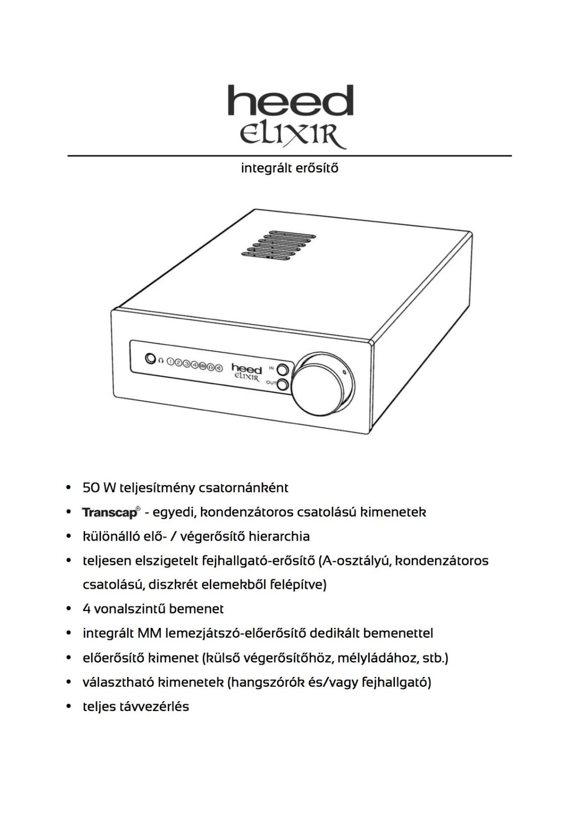 Heed Elixir műszaki adatok