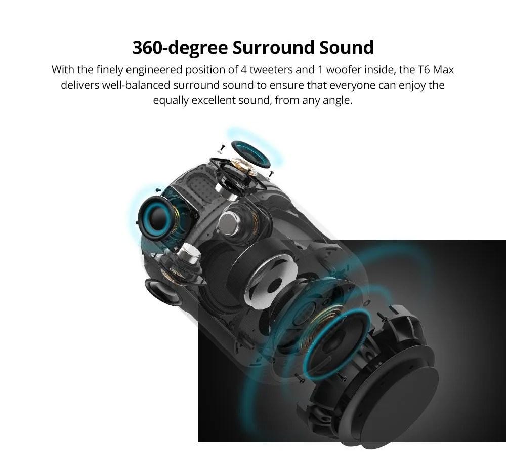 bluetooth speaker tronsmart t6 max review 7