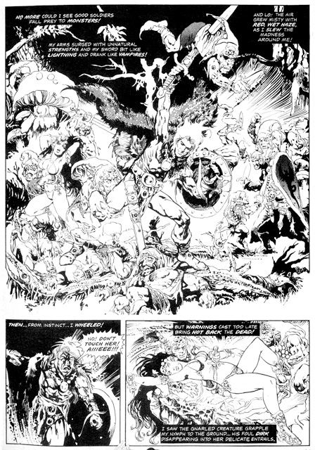 A page from EL CID, art by Gonzalo Mayo