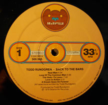 Todd Rundgren - Back to the Bars