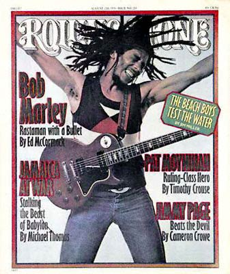 Compare this issue of Rolling Stone, with cover stories on Bob Marley, Jimmy Page, and the Beach Boys, to the cover for October 2009, with Megan Fox and a reference to Mariah Carey having one of the best albums of the fall. Sigh.