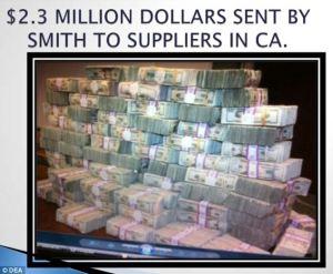 cash sent for drugs