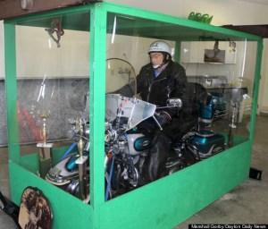 rides bike in death