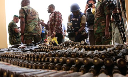 Middle East Share867 Share49 Tweet3 +18 Share [CAMEROON] — Officials Intercept Boko Haram's Arm Shipment