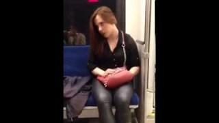 possessed woman attacks fellow train rider