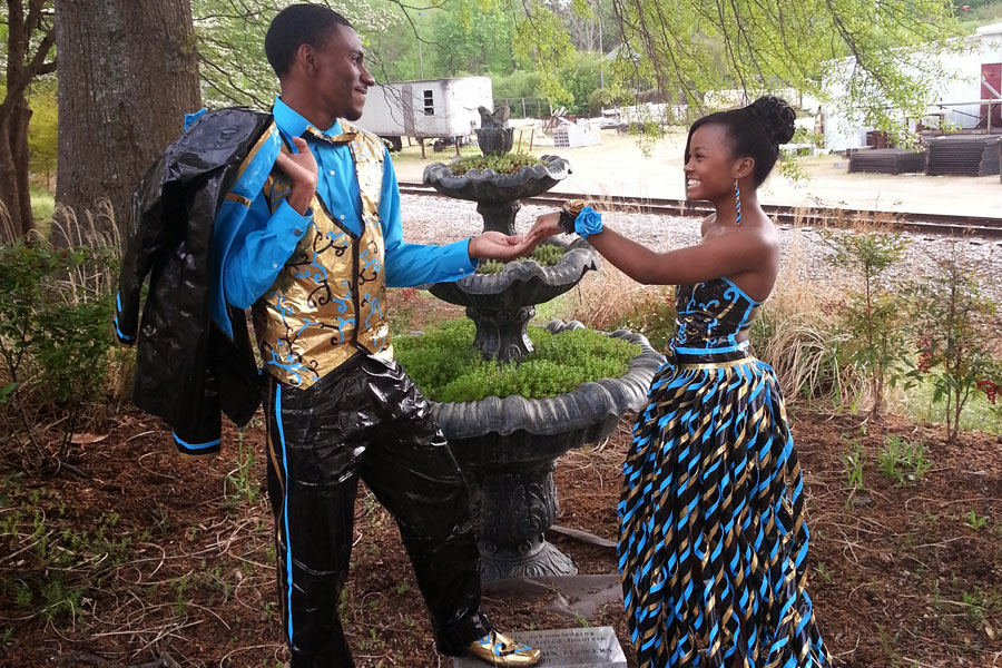 Mississippi Teens Create Prom Dress And Suit Out Of Duct Tape