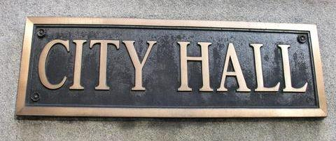 Chicago City Hall Sign