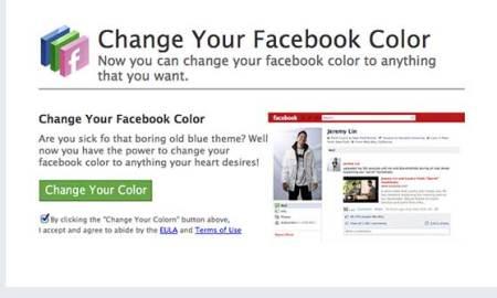 facebook color change app