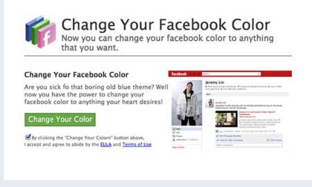 facebook color change app