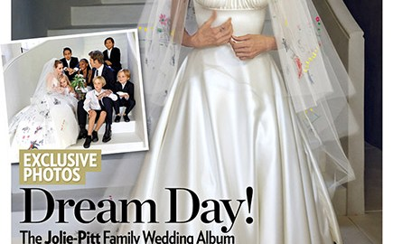 Brad Pitt and Angelina Jolie's Family Wedding Album Appears On Cover People Magazine