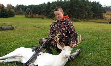 11-year-Old Hunter Bags Rare Albino Deer